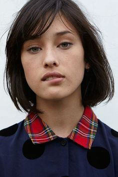 Lydia Graham - Girls, Natural Makeup, Lydia Graham, Polka Dots, Shorts Hair, Lazy Oaf, Hair Bangs, Shorts Bobs, Cute Hair