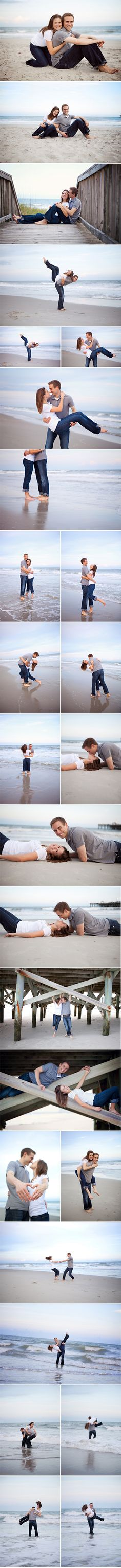 Engagement photos on the beach! Yup. Goin to folly. Perfect.