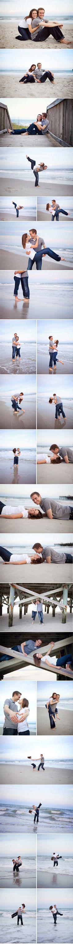 Engagement photos on the beach! So cute