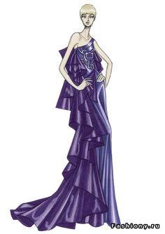Эскизы Atelier Versace 2008 / эскизы картинки