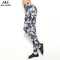 Black Print Running Women Fitness Legging