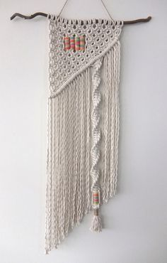 Macramé Wall Hanging by MyMacrameArt on Etsy https://www.etsy.com/listing/272531452/macrame-wall-hanging