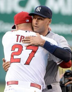 picture of mike trout & jeter | Mike Trout