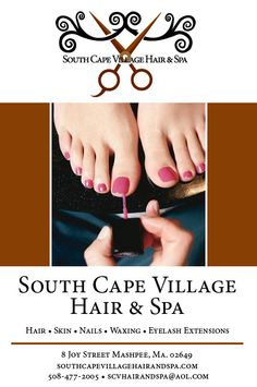 CCDD with South Cape Village Hair & Spa! Mashpee's most inviting hair and spa experience! Have your hair, nails, skin, eyelash extension and waxing services professionally provided by our talented staff! www.capecoddailydeal.com