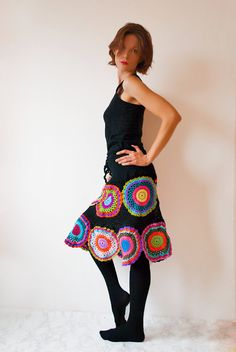 Knee Length Gypsy Circle Skirt Made to Order by subrosa123