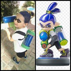 Splatoon costume kids