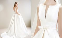 Backless gown by Jesús Peiró - introducing the new 2017 collection via Miss Bush Bridal.