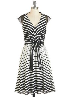 Illusion My Mind Dress. Going gaga over this black-and-white dress from Coconinno by Eva Franco?  #modcloth