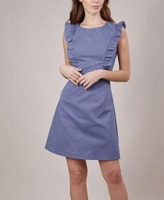 35 Beautiful Casual Dress Ideas for Women 2019 Beautiful Casual Dresses, Simple Dresses, Dresses For Work, Denim Skirt Outfits, Dressy Outfits, Fashion Outfits, Best Prom Dresses, Summer Dresses, Ruffle Dress