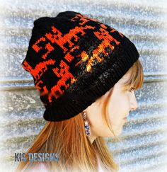 Foxy! Knitted Hat Pattern Download by KISDesigns on Etsy