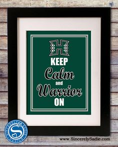 University of Hawaii Keep Calm and by SincerelySadieDesign, $9.95