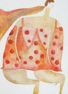 Red Polka Dot Dress by Scott Bergey