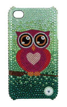 Capa Owl com SWAROVSKI ELEMENTS  por USH