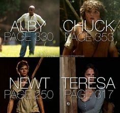 R.I.P Newt, Alby, Chuck, and Teresa. may they forever be in out hearts.. <3 <3 <3 <3