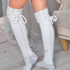 {Look for a remarkable variety of ladies knee extremely high boots, check awol, rainfall, driving shoes and a lot more. Guêtres Au Crochet, Crochet Socks, Cable Knit Socks, Knitting Socks, Casual Skirt Outfits, Cute Outfits, Crochet Patterns Free Women, Over The Knee Boot Outfit, Winter Boots Outfits
