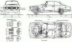 Alfa Romeo Giulia GT, foto - Alfa Romeo Giulia 1300 GT Junior dimensioni