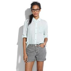 Denim Boyshorts.  Couldn't wear to class, but perfect for sightseeing--not too short, 5 inch inseam, and not too tight for Italian modesty. Madewell.com only.