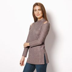#Avon Cutout Shoulder Top Give the cold shoulder in this knit pullover with peekaboo cutouts. Grey textured, Mock turtleneck, Cutout shoulder detail. Available in S-3X. NEW! Regularly $27.99. #CJTeam #Avon #Style #Sale #Fashion #New #C24 #Top #Blouse #SignatureCollection #ColdShoulder #Avon4me FREE shipping with any $40 online Avon purchase. Shop Avon fashion online @ www.TheCJTeam.com