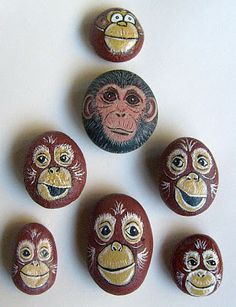 Painting Rock & Stone Animals, Nativity Sets & More: Painted Rock Critters, Animals and More