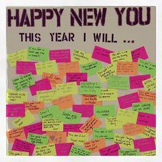 The ideeli employee resolution board!! What are your 2013 resolutions?? employee recognition #motivation