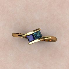 2 Birthstone ring
