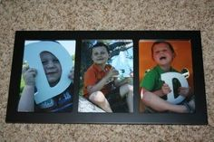 framed fathers day gift from kids - Hey! I have 3 kids....this might actually be doable and easy.