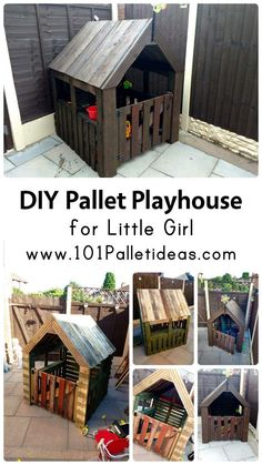 DIY Pallet Playhouse for Little Girl | 101 Pallet Ideas
