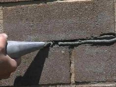 Repair Damaged Mortar in a Brick Wall - YouTube