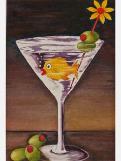 painted glass images   Painting Clear Glass Images Using Watercolors » Happy Hour ...
