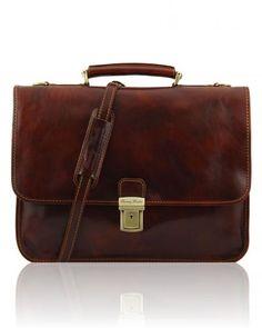 TORINO TL10029 Leather briefcase 2 compartments