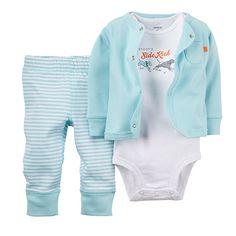 Baby Boy (NB-12M) Carter`s Dog Cardigan Set