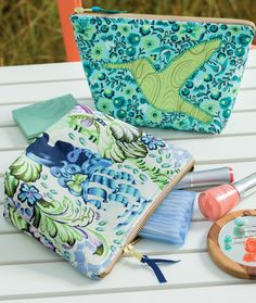Hummingbird makeup bag from the book Sweet and Simple Sewing