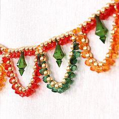 Diwali Decorations At Home, Door Hanging Decorations, Bead Embroidery Patterns, Beaded Jewelry Patterns, Diwali Candles, Thali Decoration Ideas, Acrylic Rangoli, Rakhi Design, Diwali Sale