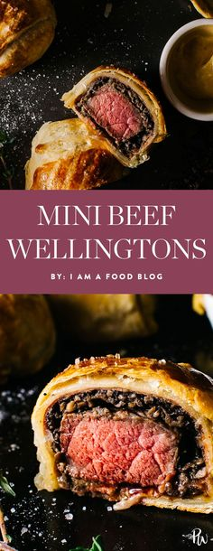 Get the recipe for these delicious mini beef wellingtons and more of the best holiday recipes to have in your arsenal beefwellington beefrecipes appetizers holidayappetizers holidayfood holidayrecipes Beef Appetizers, Holiday Appetizers, Appetizer Recipes, Holiday Recipes, Catering Recipes, Tapas Recipes, Mini Beef Wellington, Wellington Food, Best Beef Wellington Recipe