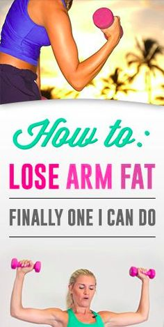 How To: Lose Arm Fat – Finally One I can Do Might not be my favorite person to listen too but seems like a good workout Body Fitness, Fitness Diet, Fitness Motivation, Health Fitness, Yoga Training, Weight Loss Meals, I Work Out, Get In Shape, Excercise