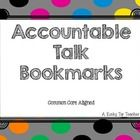 This freebie contains bookmarks that can be used to help give students sentence starters when using accountable talk in the classroom-math specific...