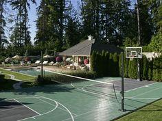 Artale custom home, Sport Court game court