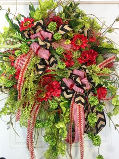 Premium XL Spring or Summer Red and Lime Wildflower Mesh Wreath by WilliamsFloral on Etsy https://www.etsy.com/listing/287758709/premium-xl-spring-or-summer-red-and-lime