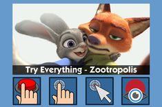 Zootropolis - free teaching activity for switch, touchscreen, pointing device and eye gaze users. Use online or download for Windows PC.
