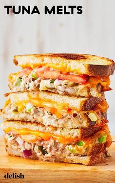 favorite diner has NOTHING on these tuna melts. Get the recipe at .Your favorite diner has NOTHING on these tuna melts. Get the recipe at . This classic sandwich is such a comfort food. Get the recipe at . Tuna Melt Sandwich, Tuna Melts, Tuna Sandwich Recipes, Pesto Sandwich, Tuna Salad Sandwiches, Panini Recipes, Grilled Cheese Recipes, Tuna Fish Recipes, Breakfast