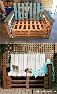 How to Make an Outdoor Pallet Couch or Sofa - DIY Pallet Furniture