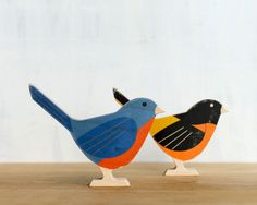 Modern Wood Bird 'Baltimore Oriole' bird by StudioLiscious