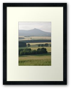 'Bennachie and Barley Framed Print by Jennifer J Watson Framed Art Prints, Canvas Prints, Aberdeenshire Scotland, Aberdeen Scotland, Centerpiece Decorations, Custom Boxes, Art Boards, Decorative Throw Pillows, Travel Mug