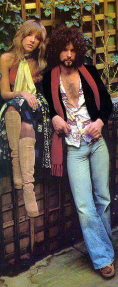 Stevie Nicks and Lindsay Buckingham from Fleetwood Mac.