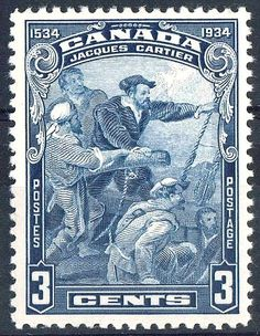 Jacques Cartier ~ Canadian stamp, 1934