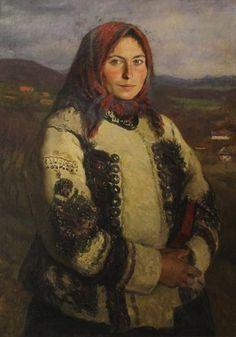 Palóc menyecske (Palóc bride) by Glatz Oszkár, 1928 Capital Of Hungary, Red Boots, Lany, Fashion History, Hetalia, Traditional Outfits, Romans, Folk Art, Mona Lisa