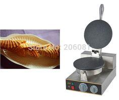 189.00$  Watch now - http://ali9wa.worldwells.pw/go.php?t=32326196384 - 220V Electric Non-stick Single Head ice cream waffle cone baker/waffle  cake Ice Cream Cone Maker /CONE SHAPE WAFFLE BAKER/