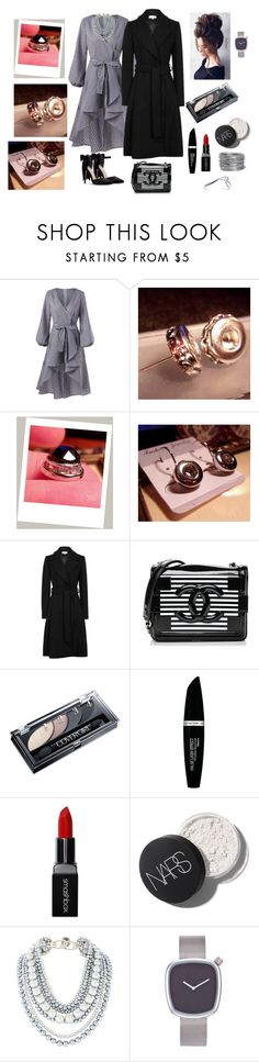 """Jet Black Rhinestone Snap Jewelry Charm-"" by bamasbabes on Polyvore featuring Chanel, Max Factor, Smashbox and Avenue"