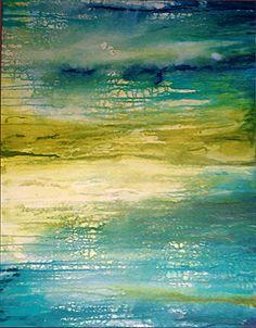 Cyn Bird, 'Wetlands,' acrylic on canvas, 30 x 24 inches
