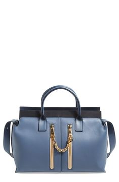 Chloe ~ leather satchel.